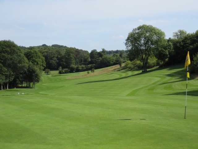 A look back down the 2nd at Whiteleaf Golf Club