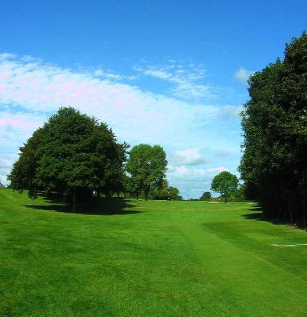 The uphill 3rd hole at Whiteleaf Golf Club