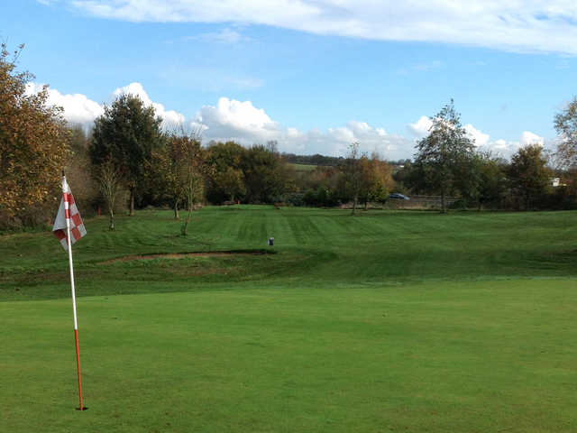 A view from the 9th green on the Bramcote Waters Golf Course