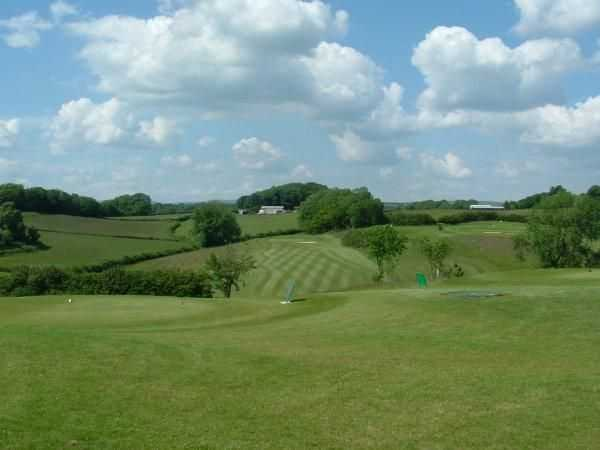 View from the 1st tee at Coed-y-Mwstwr Golf Club