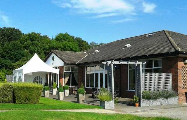 The clubhouse at Heyrose Golf Club