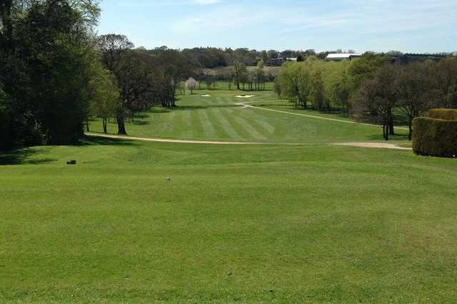 The 1st tee shot at Enfield Golf Club