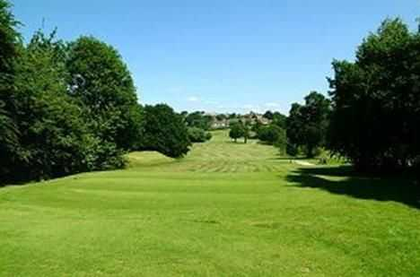 The 12th tee shot at Enfield Golf Club