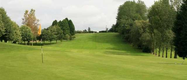 A look back up the signature 10th hole from Banbridge GC