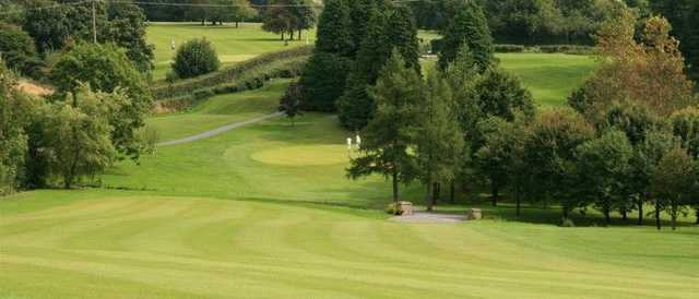Banbridge GC: The approach from the 9th fairway