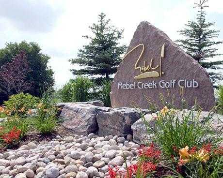 Rebel Creek GC sign
