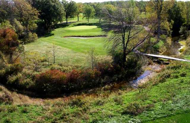 Pelham Hills GCC: The green from the par-3 3rd hole