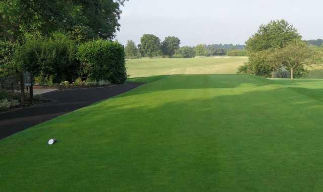 The opening tee shot at Welwyn Garden City Golf Club