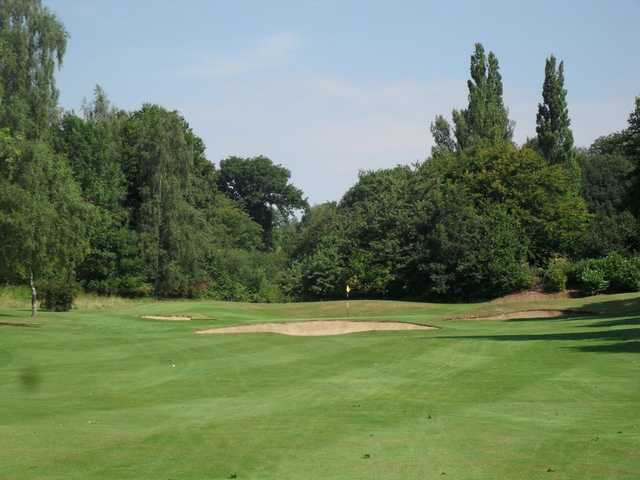 The tough approach to the 7th at Welwyn Garden City Golf Club