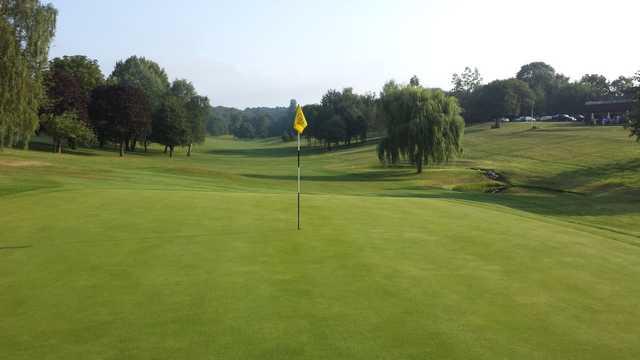 A look back down the 17th at Welwyn Garden City Golf Club