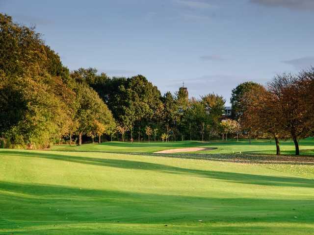 The 7th hole at  Heaton Moor Golf Club