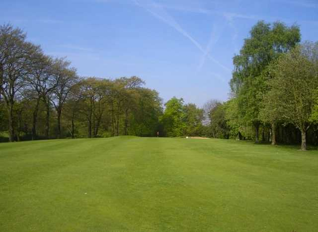 A view from the middle of a fairway at Heaton Moor GC