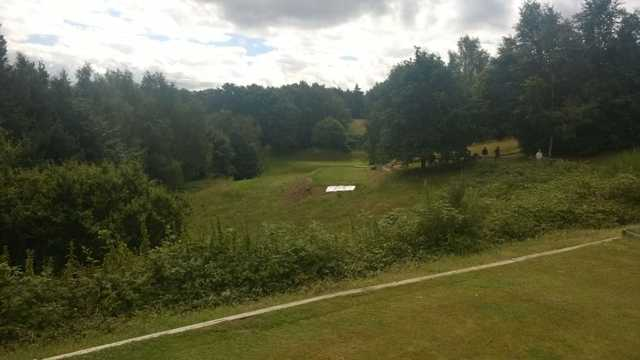 A look down the tough 10th hole from Millbrook Golf Course