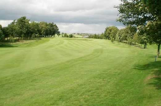 A view straight down the 1st fairway at Crompton & Royton Golf Club