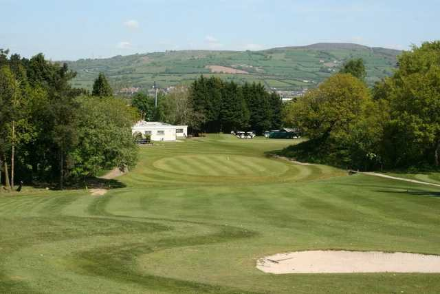 A look at the stunning 18th at Caerphilly Golf Club