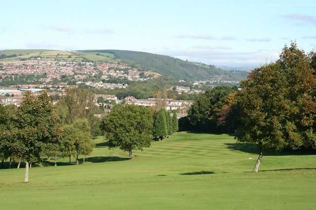 Stunning views from the 18th at Caerphilly Golf Club