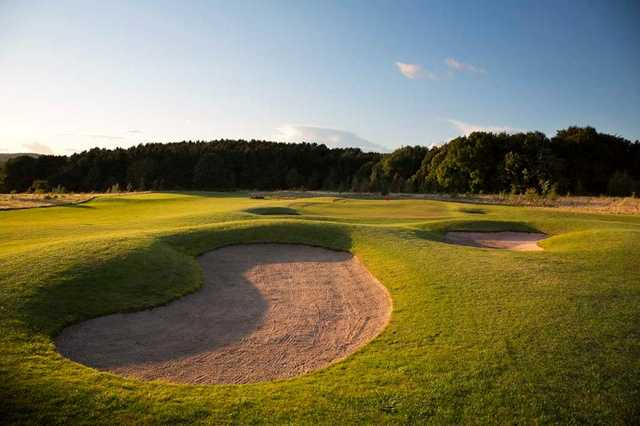 A greenside shot of the 1st hole on the Silkstone Golf Course