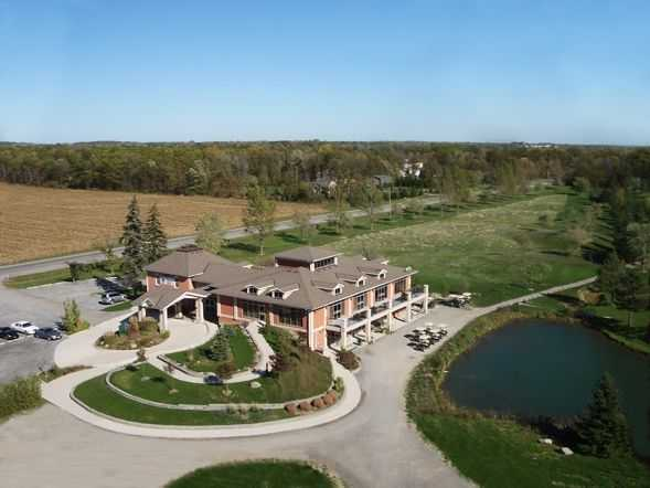 Pelham Hills GCC: aerial view of the clubhouse