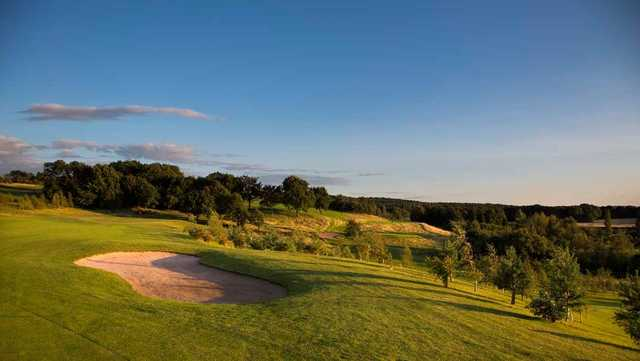 Bunkers guarding the 2nd hole at Silkstone Golf Club
