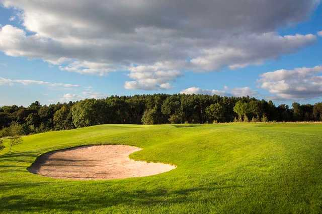 Silkstone Golf Club's 3rd green with bunker