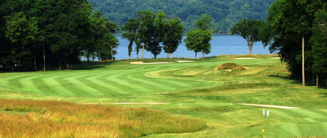 View of the 5th hole from the Harbor Links at Sagamore Resort
