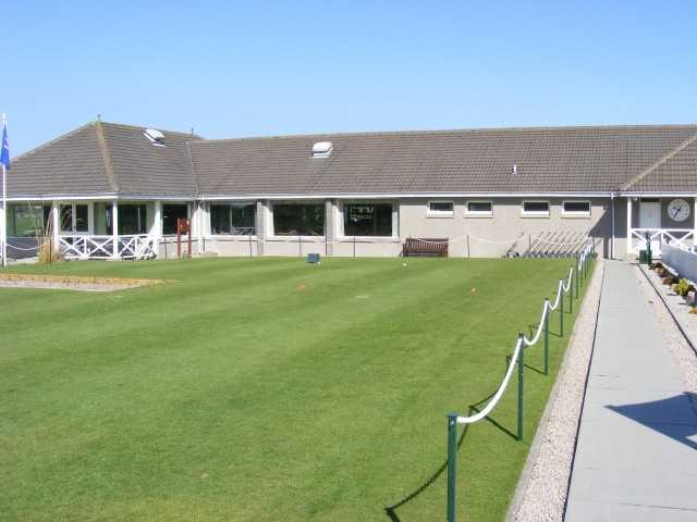A view of the clubhouse at Kintore Golf Club