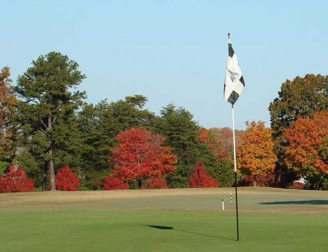 View of the 9th hole from The Pines at Tega Cay Golf Club.