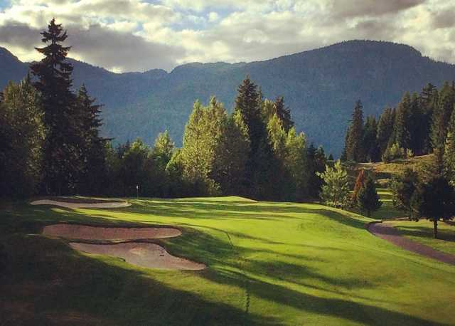 View from the par-4 6th at Fairmont Chateau Whistler GC