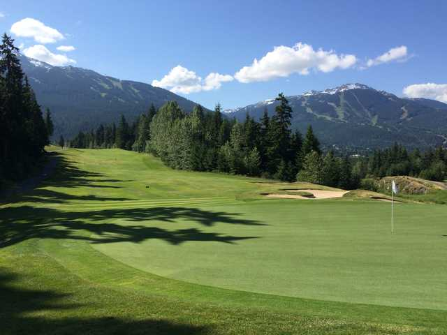 View from no. 7 at Fairmont Chateau Whistler GC