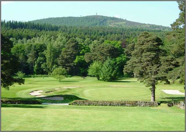 Tricky approach shot at Banchory GC