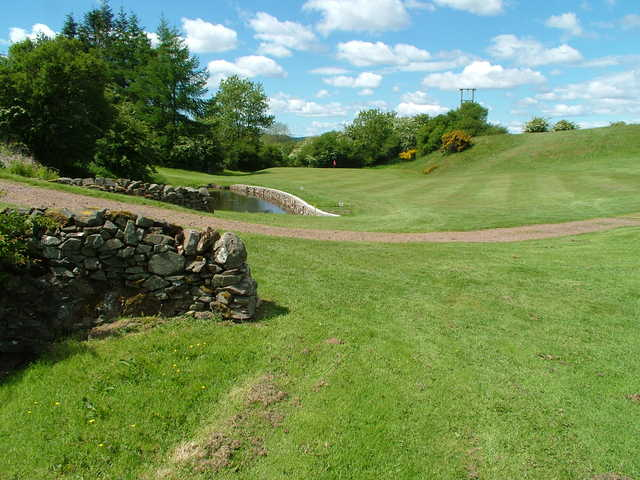 View of the 9th approach at Kirkcudbright Golf Club