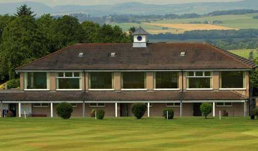 A view of the clubhouse at Oldmeldrum Golf Club