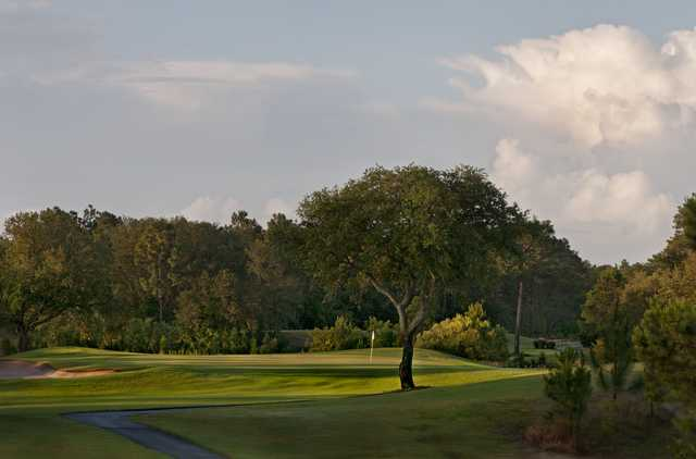 Sunset view of the 12th hole at Beau Rivage Golf & Resort