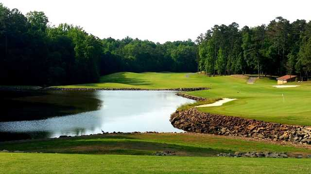 View of the 18th hole at The Tillery Tradition Country Club