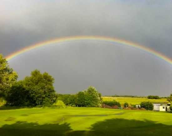 Rainbow over Long Sutton Golf Club