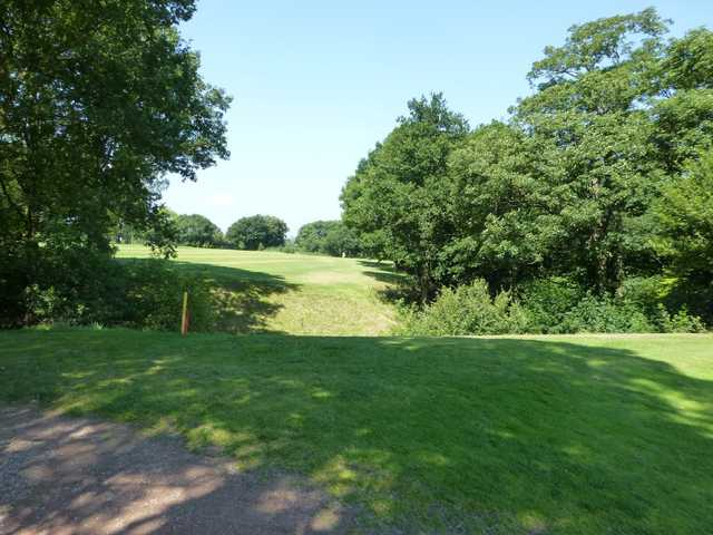 Over the ditch to the 9th hole at Marple Golf Club