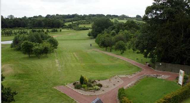 View above the opening hole at Normanton Golf Club