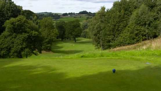 Elevated tee shot at Beamish Park GC