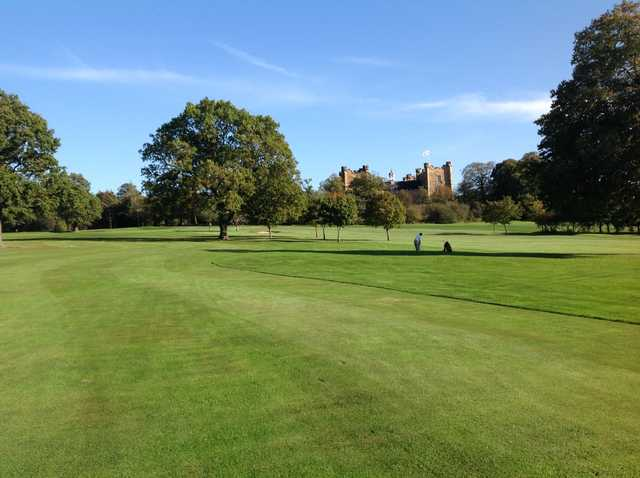A view of the magnificent Lumley Castle overlooking the golf course at Chester-le-Street Golf Club