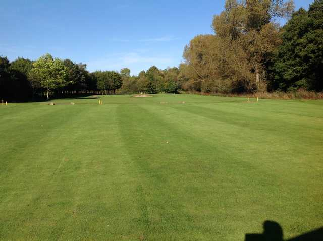 A view of the 4th fairway in the sun at Chester-le-Street Golf Club