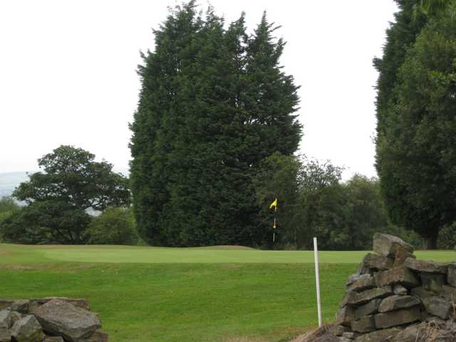 A view of the 3rd green at Harwood Golf Club