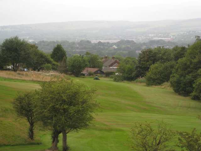 A view from the 5th overlooking the nearby towns at Harwood Golf Club