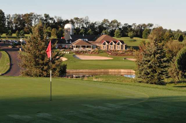 A view of two holes at Spring Hollow Golf Course