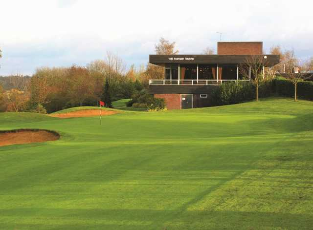 A view of the fairway tavern at Panshanger Golf Club