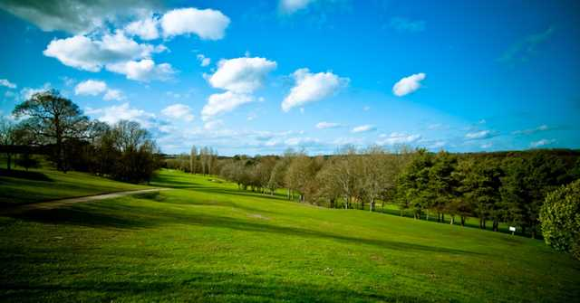 Beautiful view from the 1st tee at Panshanger Golf Club
