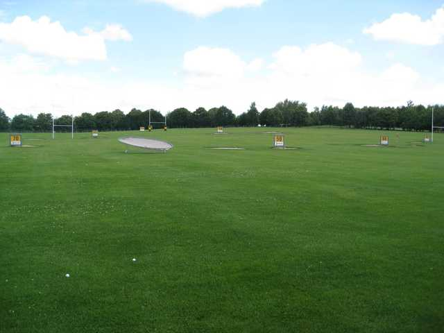 The driving range at Bromsgrove Golf Course