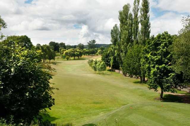 Great aerial shot at Shipley Golf Club