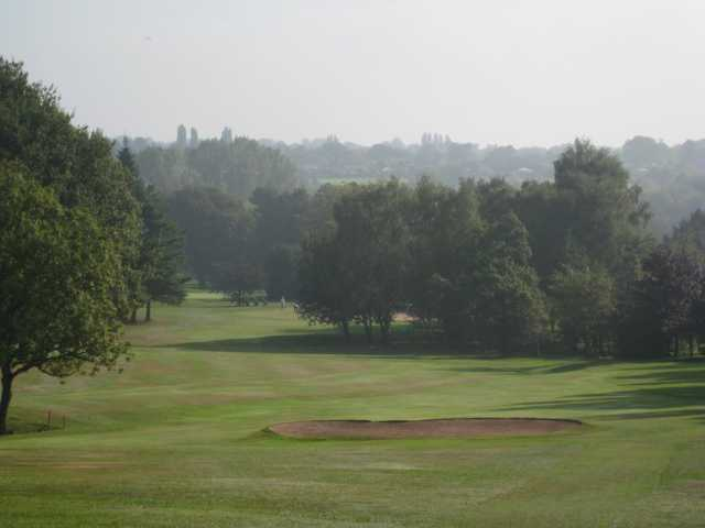 The 1st fairway and bunker at Walmley Golf Club