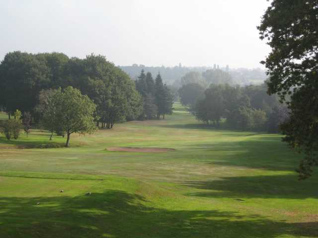 Scenic view from the top of the 10th hole at Walmley Golf Club