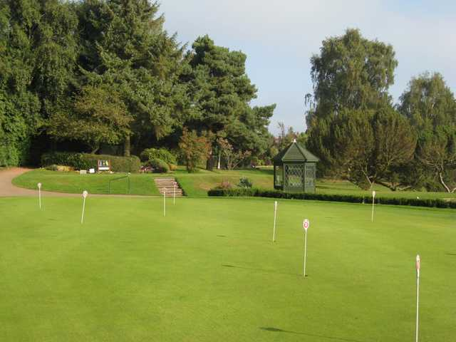 Scenic view of the putting green at Walmley Golf Club